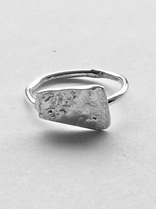 Reticulated Sterling Silver Misshapen Ring