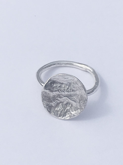 Reticulated Sterling Silver Dome Ring