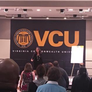 Eva DeVirgilis Speaking at VCU's Staff Senate Conference