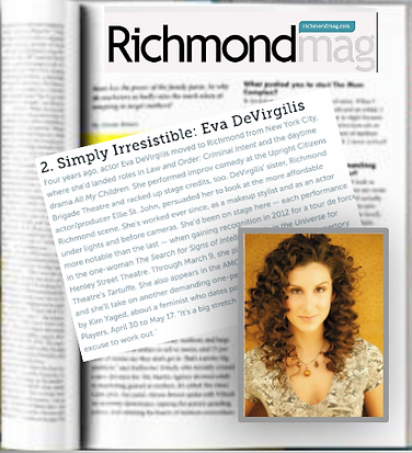Eva DeVirgilis Featured in Richmond Maga