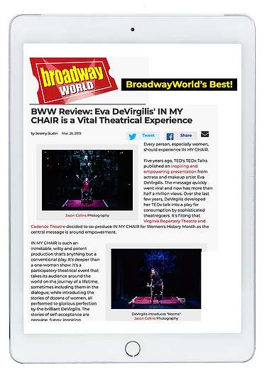 BroadwayWorld Review Eva DeVirgilis' In