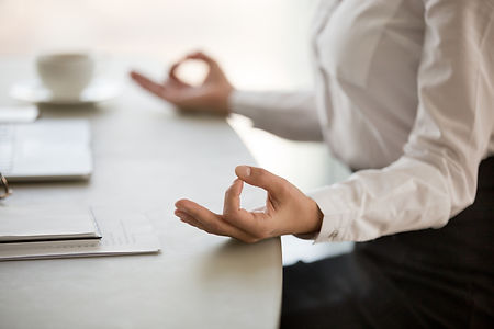 Office meditation for reducing work stre