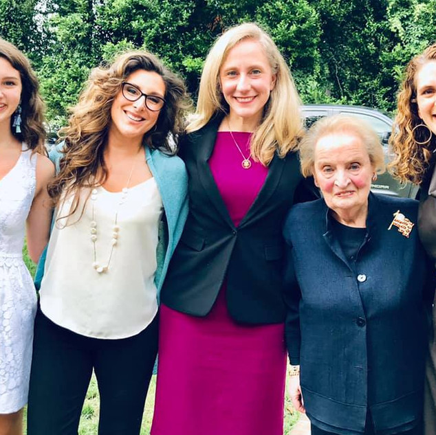 With Former Secretary of State Madeline Albright, Congresswoman Abigail Spanberger