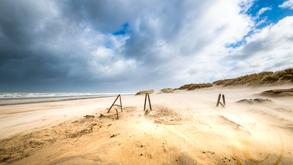 De Haan Strand In De Wind