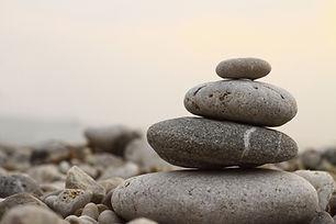 Meditation Zen-Steinen