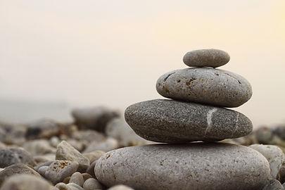 A group of balanced pebbles
