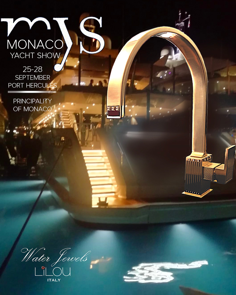 """Lilou """"Water Jewels"""" shine amongst some of the most beautiful yachts in the world."""