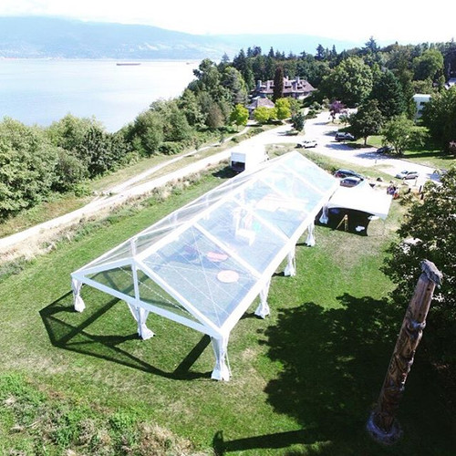40x100 Clear Top Frame Tent