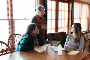 Students in weekend workshops discuss topics with Early Childhood master teachers