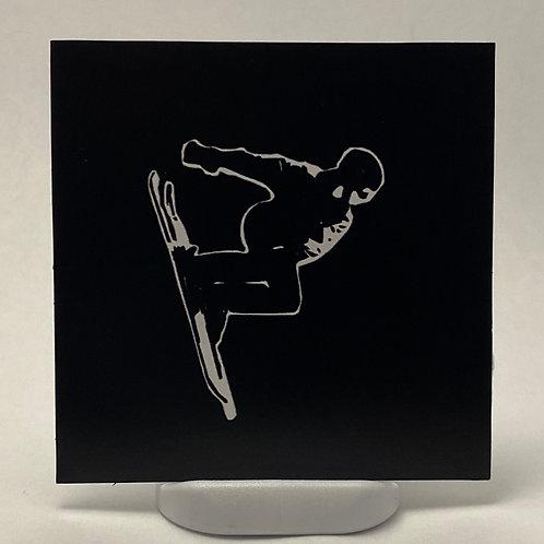 Andy Skiing Vinyl Sticker