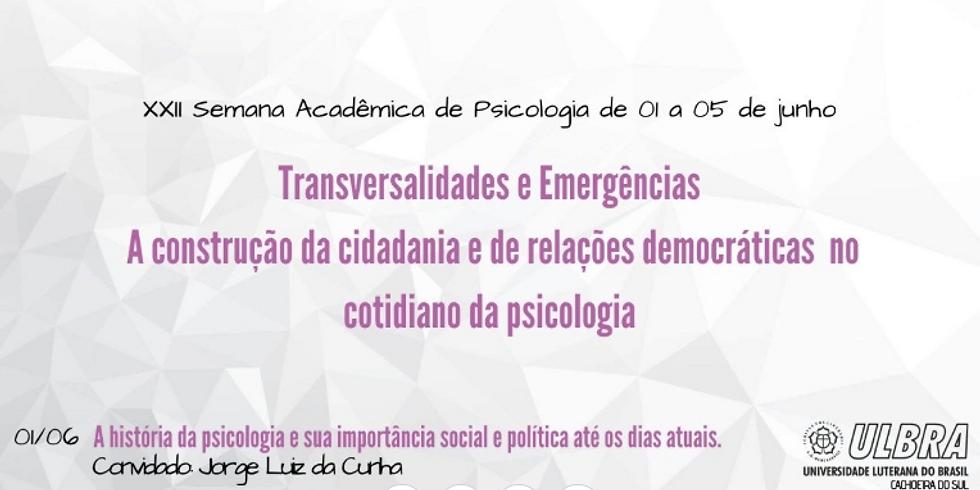 XXII Semana Acadêmica de Psicologia
