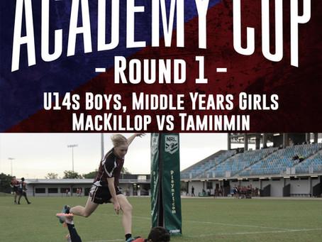 U14s Boys Academy Cup Team Announcement