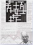 """Multiculturalism Crossword"", ink on paper, 2019"
