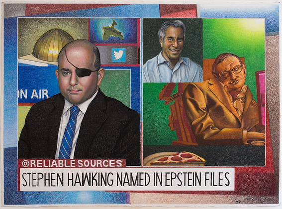CNN Reliable Sources Brian Stelter Stephen Hawkins Jeffrey Epstein Pizzagate