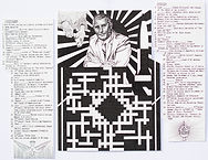 """""""Occult Crossword"""", ink on paper, 2019"""