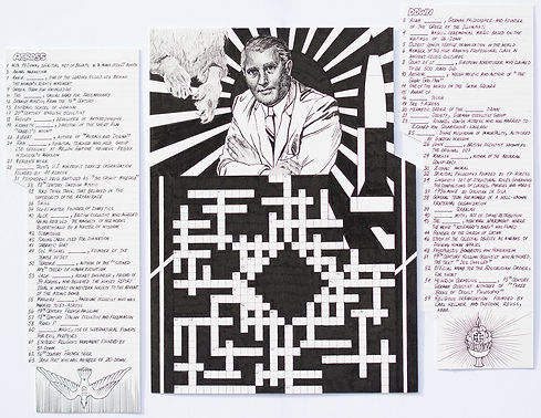"""Occult Crossword"", ink on paper, 2019"