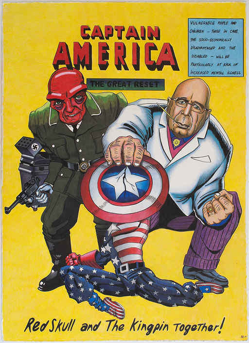 Captain America Great Reset Klaus Schwab George Soros Comic