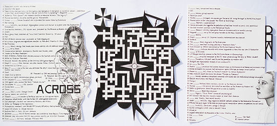 """Culture Crossword"", ink on paper, 2019"