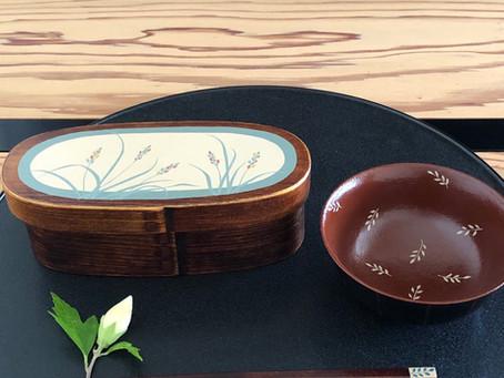 お弁当箱と漆飯椀と漆箸