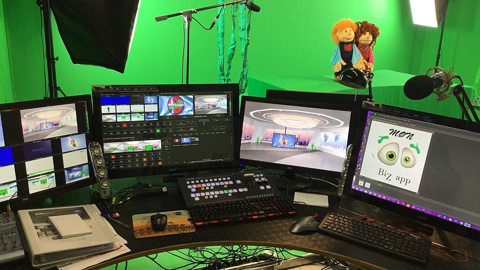 Virtual Studio hire 4 hour minimum