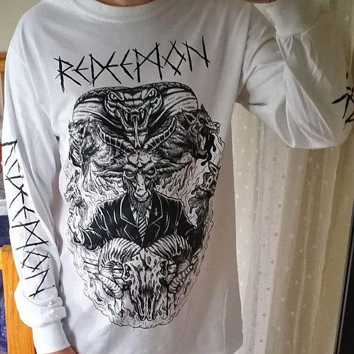 Redeemon - White Long Sleeve