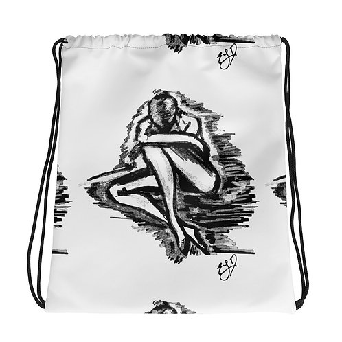 "LIMITED EDITION Original Art Drawstring bag ""I AM MINE ALONE"""