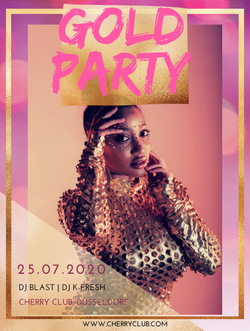 Partyflyer_Gold Party