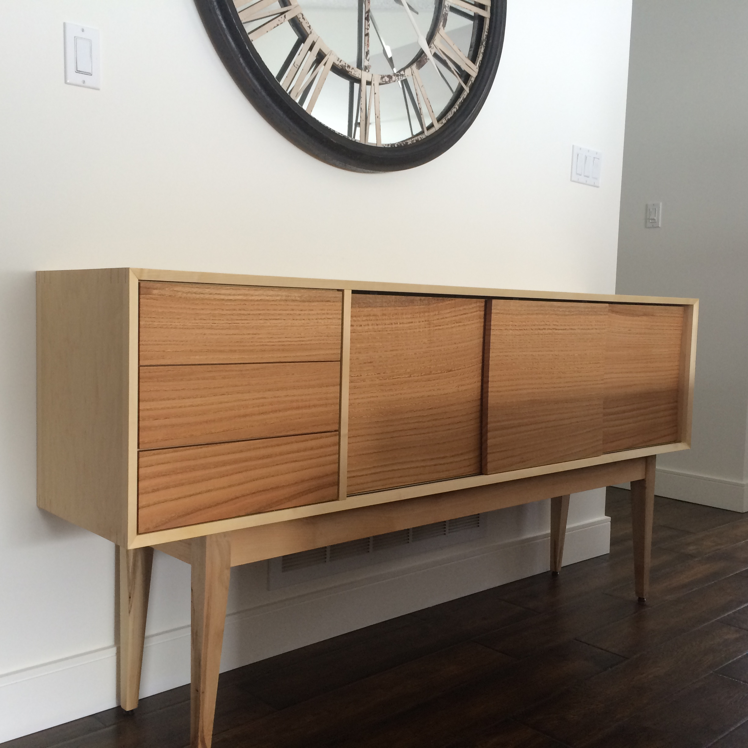 Oak and Maple Sideboard
