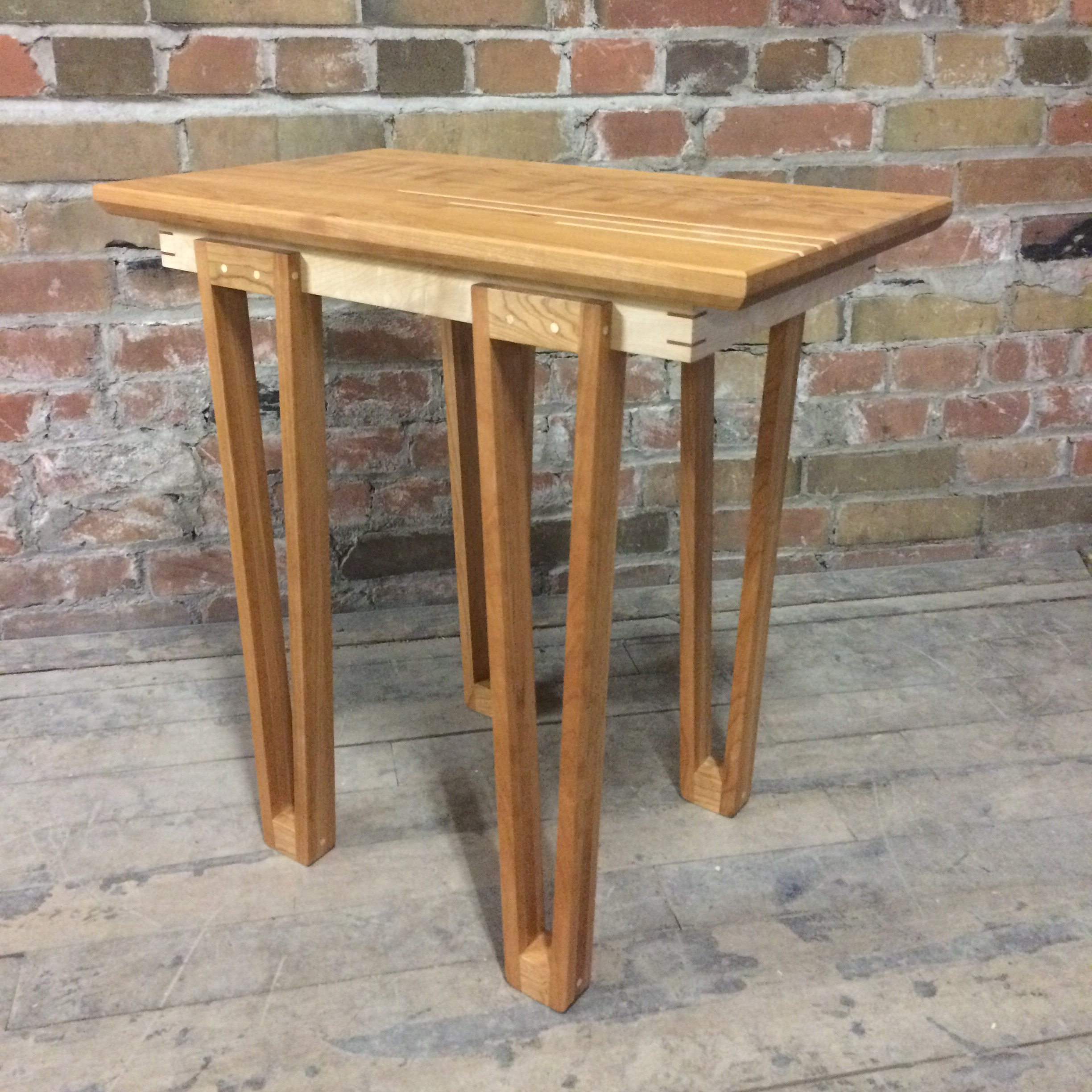 Cherry and Maple Side Table