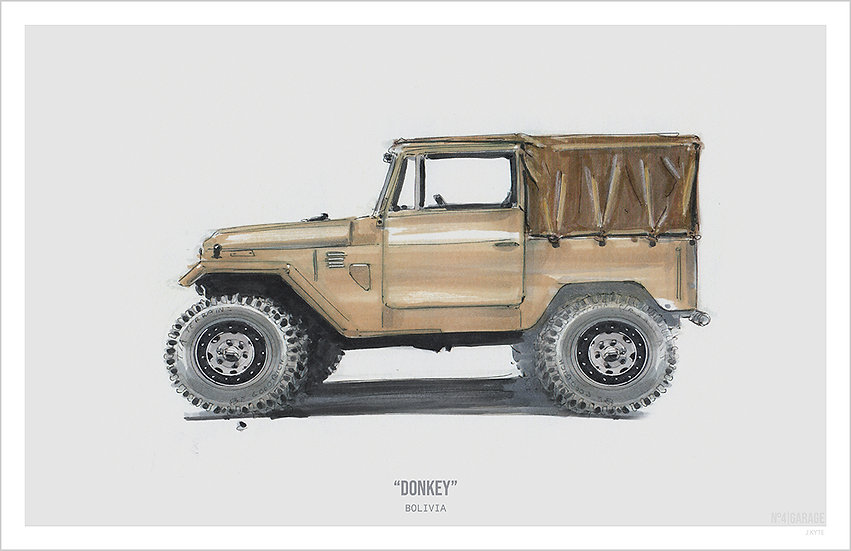 Land Cruiser Illustration Art Print