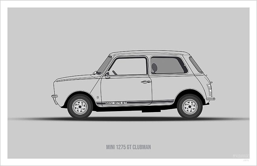 Mini 1275 GT Clubman Illustration Art Print