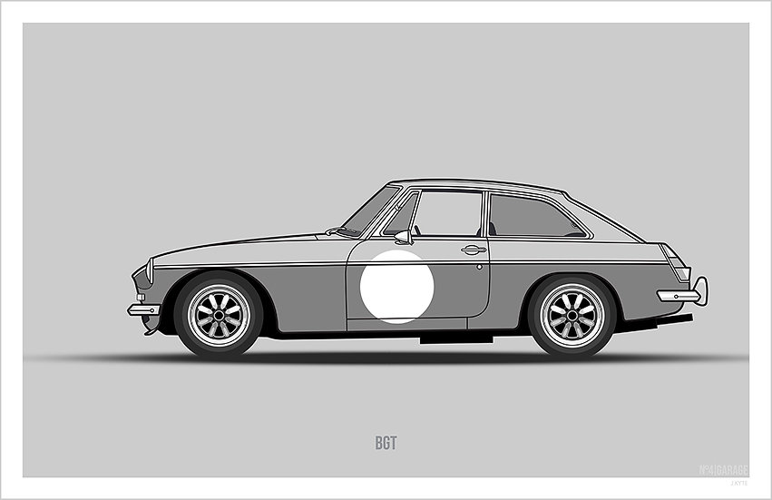 MGB GT Illustration Art Print