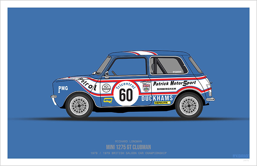Longman MINI 1275 GT Illustration Art Print