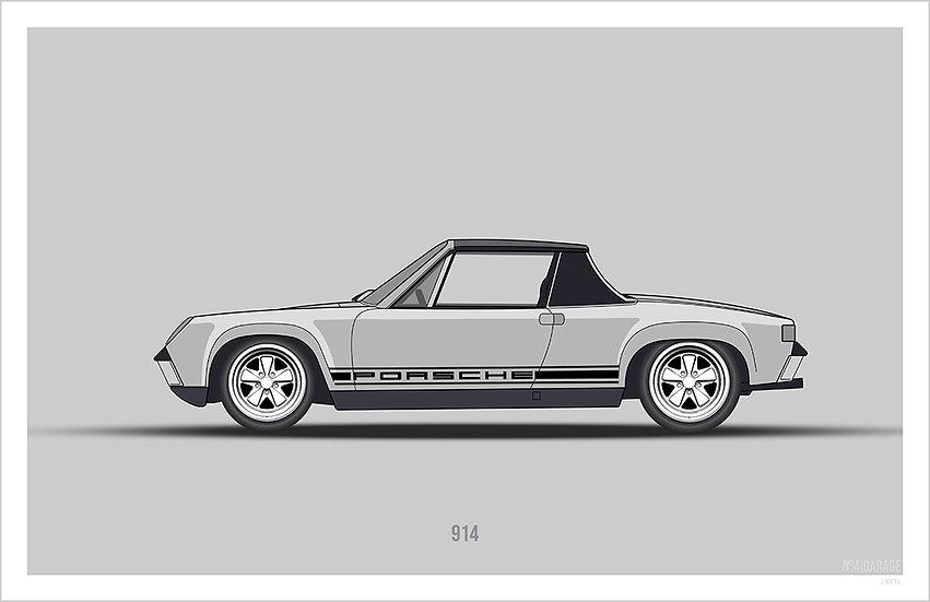 Porsche 914 Illustration Art Print