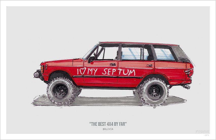 Range Rover The Best 4x4 By Far Illustration Art Print