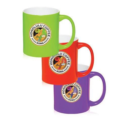 11 oz. Neon Ceramic Mugs