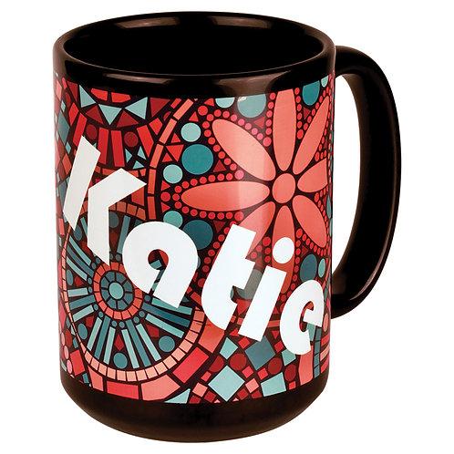 15 oz. Black/White Sublimatable Ceramic Banner Mug