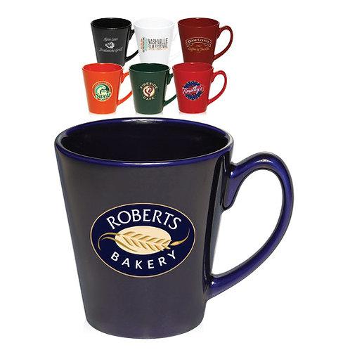 12 oz. Glossy Ceramic Latte Coffee Mugs