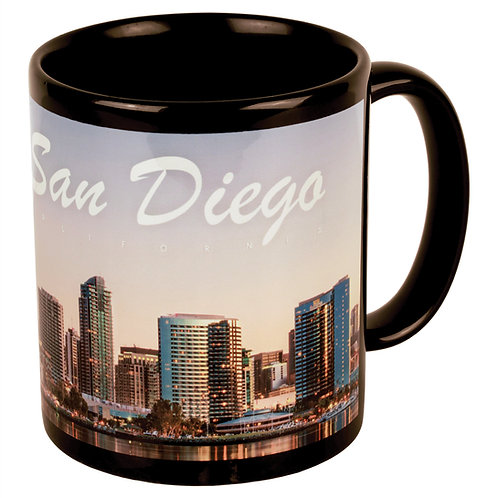11 oz. Black/White Sublimatable Ceramic Banner Mug