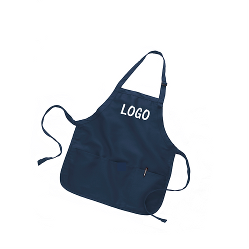 Mid Length Apron w/ Pouch with Logo