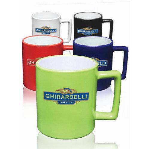 11 oz. Square Handle Coffee Mugs