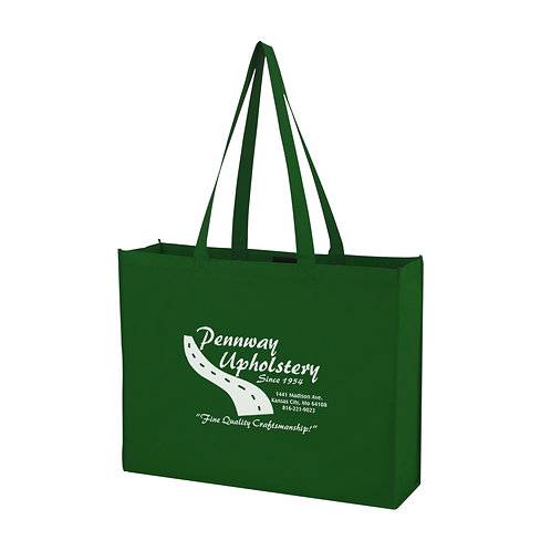 Non-Woven Shopper Tote With Hook And Loop Closure