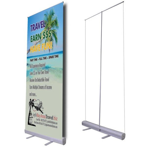 "33"" x 78"" Retractable Banner Stand"