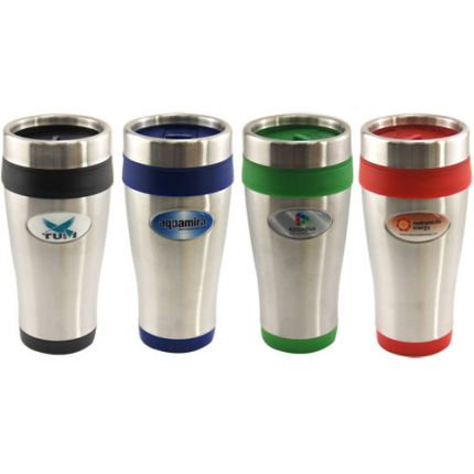 16 oz Full Color Dome Insulated Travel Tumbler