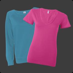Custom ladies' apparel