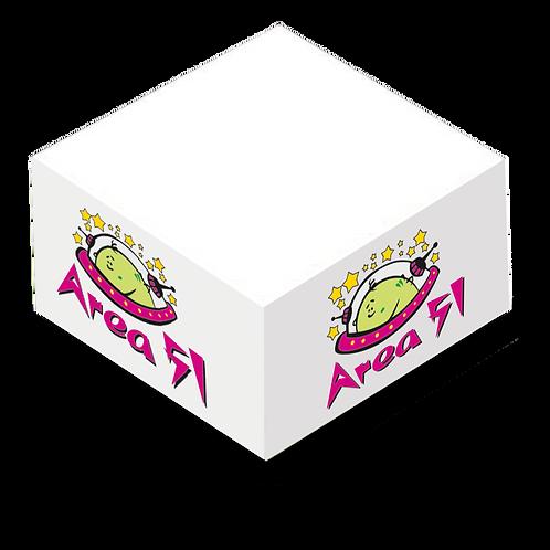 """Adhesive Cube - 2 3/4"""" x 2 3/4"""" x 1 3/8"""" No Sheet Printing"""