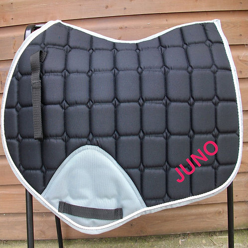 Jump Black/Grey.  Pony/Cob Size Saddle Cloth