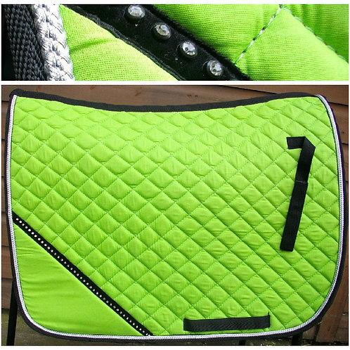 Lime Green Diamante Saddle Cloth