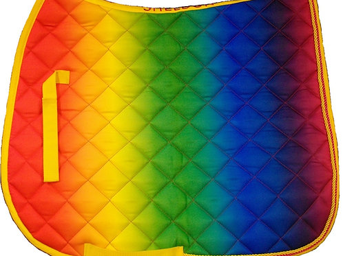 Rainbow Saddle Cloth Full Size