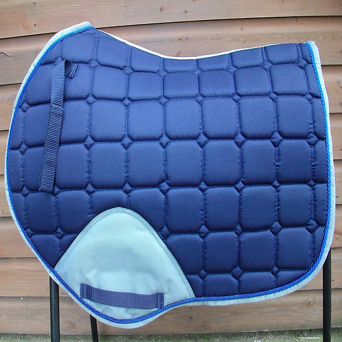 Jump Navy/Light Blue Full Size Saddle Cloth